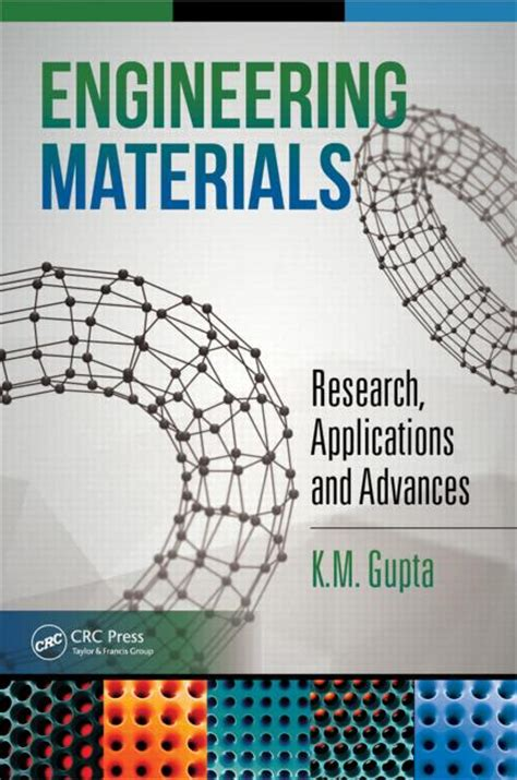 engineering materials book engineering materials research applications and advances