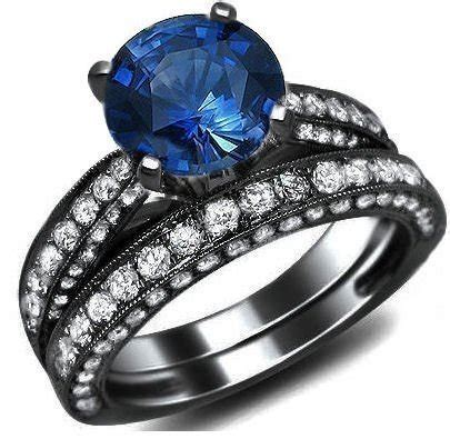 Blue Sapphire 6 15ct 3 15ct blue sapphire engagement ring bridal