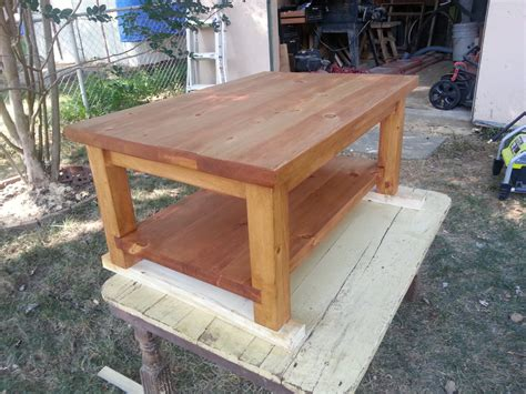 rustic quarter sawn construction lumber coffee table by