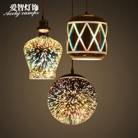 luminaire 3 suspensions modern glass pendant light 3d hanging l fireworks suspension luminaire bar personality