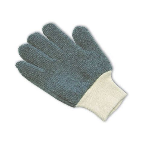 knit gloves terry cloth seamless knit glove