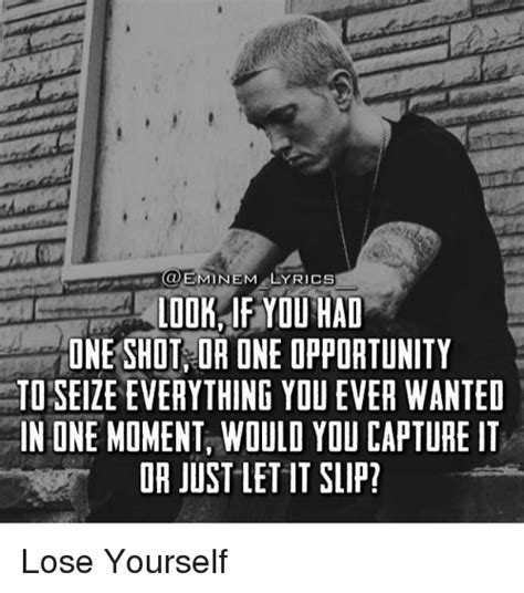 eminem lose yourself lyrics 25 best memes about eminem lyrics eminem lyrics memes