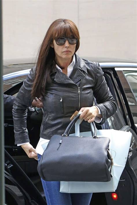 monica bellucci in jeans monica bellucci in jeans leaving her hotel in new york