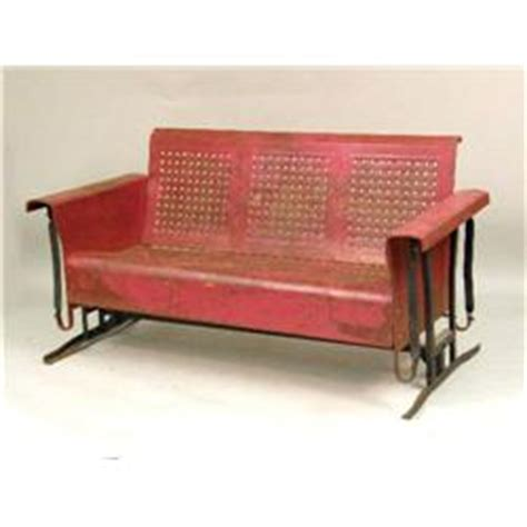 metal glider swing a vintage red painted metal porch swing glider