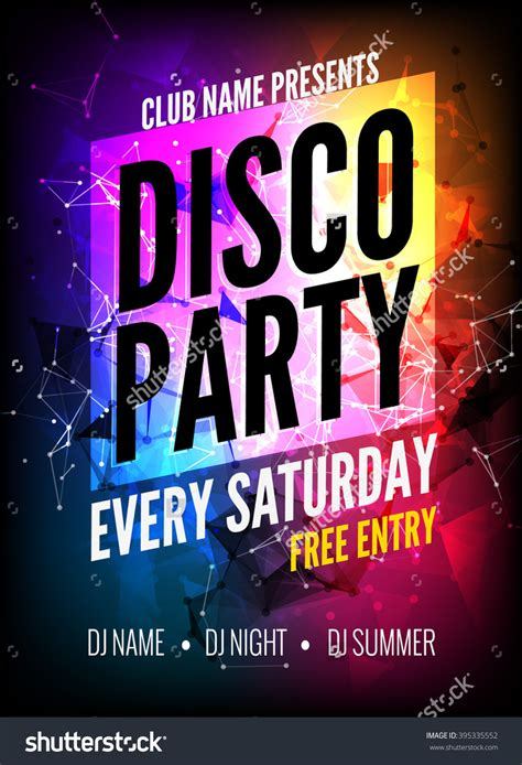 template flyer disco stock vector disco party poster template night dance party