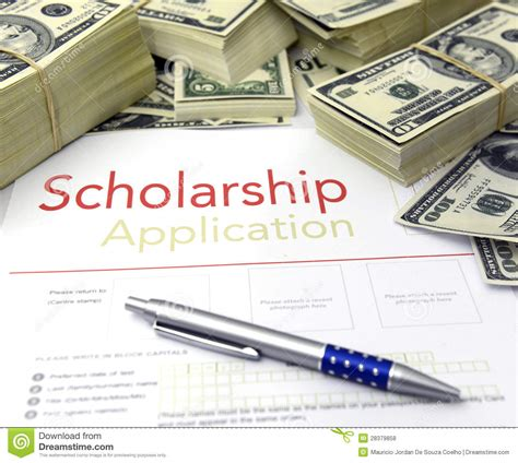 design management scholarship scholarship application form and money royalty free stock