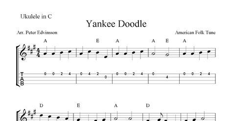 free yankee doodle yankee doodle free ukulele tabs sheet