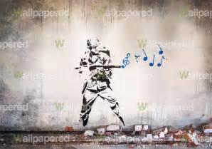 Banksy Wall Murals Banksy Musical Soldier Wall Mural Banksy Wallpaper