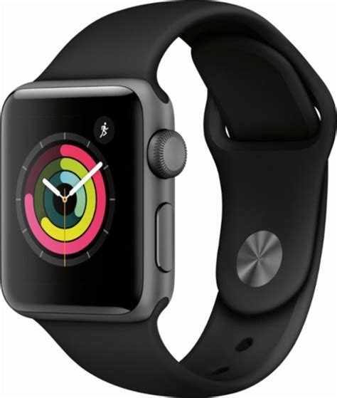 Apple Series 3 Gps apple apple series 3 gps 38mm space gray aluminum with black sport band gray