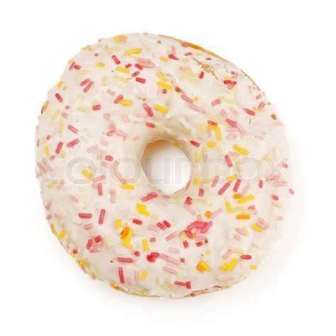 Toys Donuts Whitesugar sugar glazed donut isolated on white stock photo colourbox