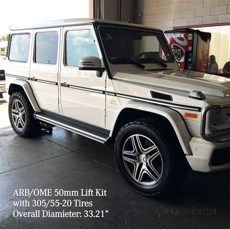 lifted mercedes mercedes g class w463 arb ome 50mm lift kit with front