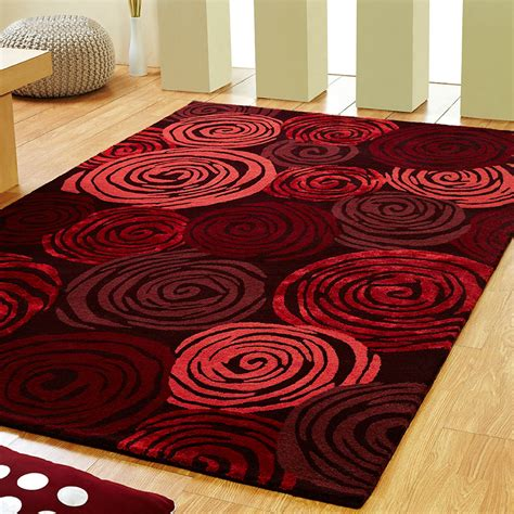 Unique Rose Rugs In Red Free Uk Delivery The Rug Seller Unique Rugs