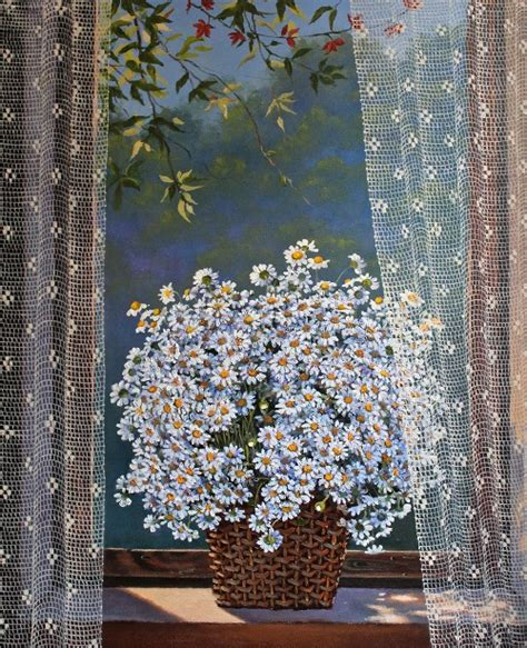 paintings of curtains behind the lace curtain turkish artist fusun urkun