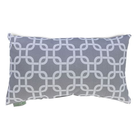 decorative pillows home goods shop majestic home goods gray links geometric rectangular