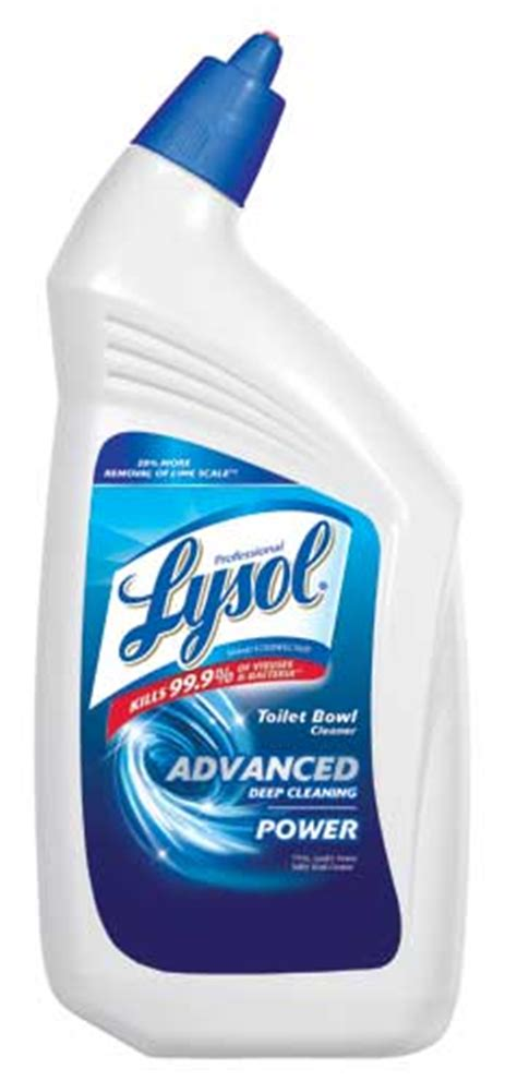 professional lysol disinfectant toilet bowl cleaner complete clean power