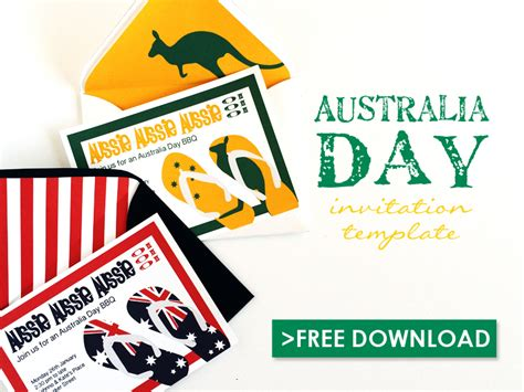 free invitation templates australia free australia day invitation template