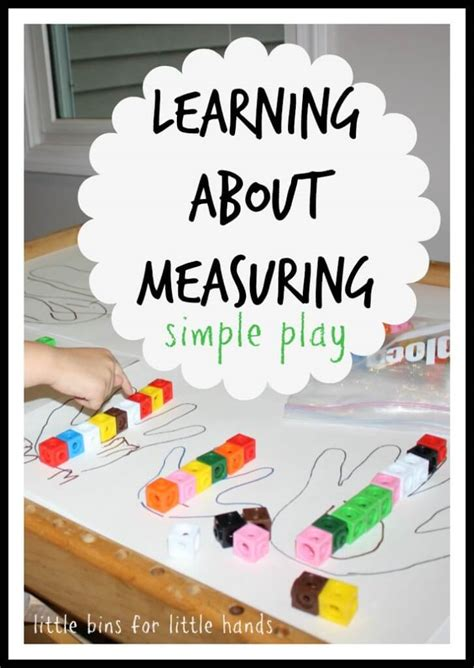 kindergarten activities hands on learning about measuring for kids