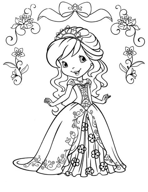 printable pictures beautiful princess coloring pages 59 on strawberry shortcake beautiful princess of strawberryland