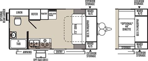 Flagstaff Travel Trailer Floor Plans by Flagstaff Micro Lite Light Weight Trailers Floor Plans