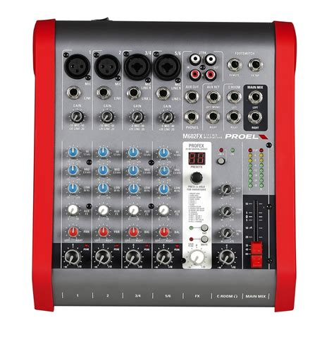 Mixer Audio Proel Proel M602fx 6 Channel Ultra Compact Mixer With Effects Audio Works