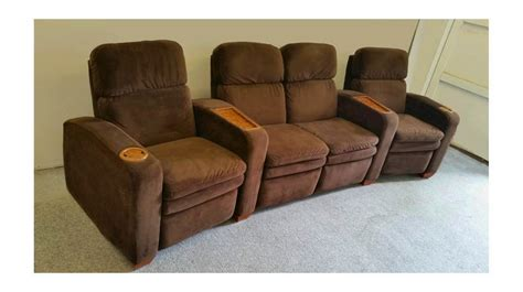 fully reclining seats quot lazyboy quot home theater seats 4 person fully reclining