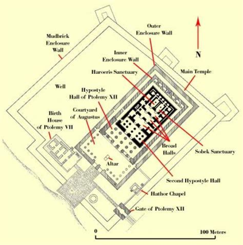 temple floor plan plan of the temple complex at kom ombo ancient egyptian