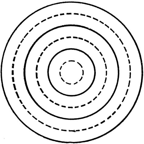 how to draw circle doodle drawing concentric circles with compass clipart etc