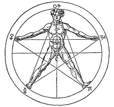goldener schnitt mensch pentagramm