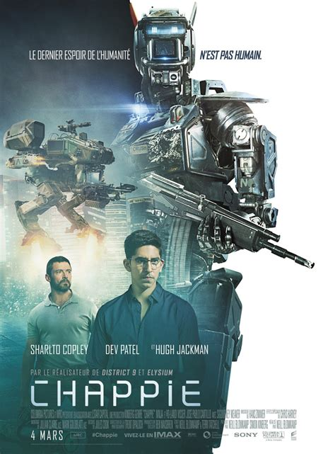 film up humandroid chappie new french poster gives the humans some room