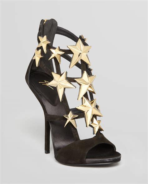 giuseppe zanotti high heels giuseppe zanotti sandals high heel in gold black