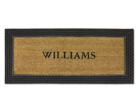 unique doormats personalized basketweave rubber coir doormats williams