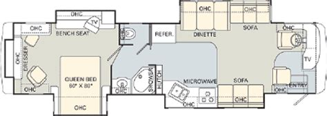 monaco rv floor plans 2006 monaco 40plq floorplan
