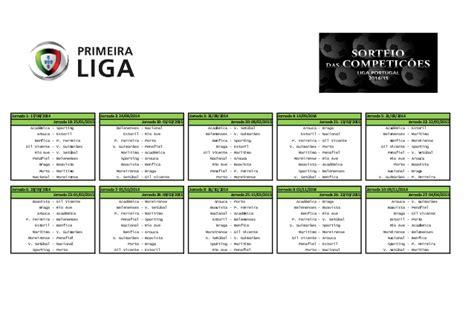 Calendario P A N 2015 Calendario Primeira Liga 2014 2015