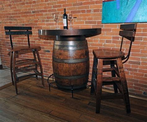 Half Barrel Table by Half Barrel Bistro Table