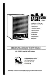 ecoquest eagle 3000 air purifier owners manual