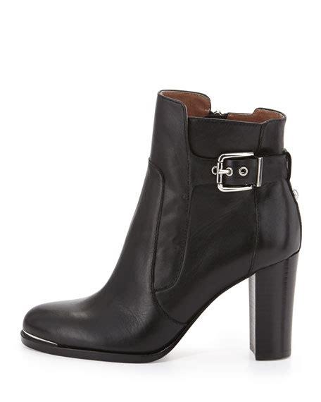 donald j pliner quin buckled block heel ankle boot