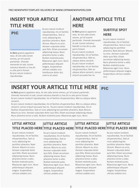 news story template newspaper article template second page from the paper