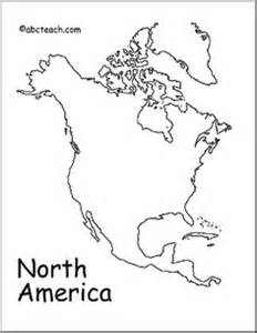 North America Outline Map by 2nd Grade Summer On Pinterest Respiratory System