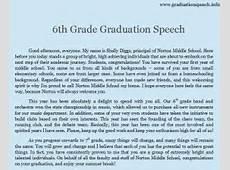8th grade graduation speech