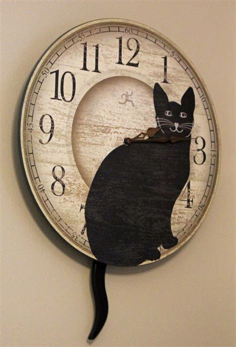 71 best cat clocks images on cat clock clocks and cats
