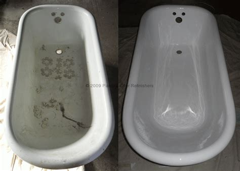 refinishing clawfoot bathtub before after 171 bathtub refinishing tile reglazing