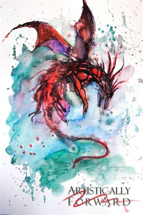 watercolor dragon tattoo 25 best ideas about red dragon tattoo on pinterest red