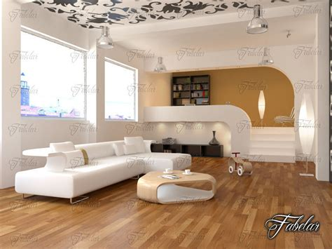 bedroom scene 03 3d model max 3ds c4d split level 03 3d model max obj 3ds fbx c4d dae
