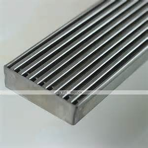 linear floor shower drain stainless steel adjustable exit