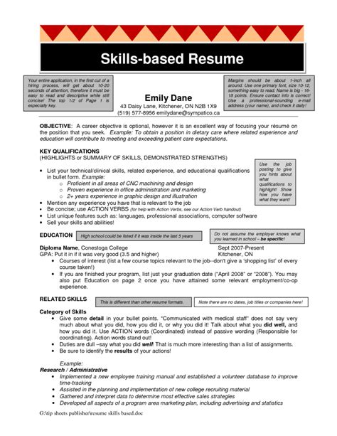 Skills Based Resume Administrative Assistant Skills Based Resume Free Resume Templates