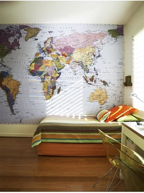 15 boys bedrooms with map walls rilane