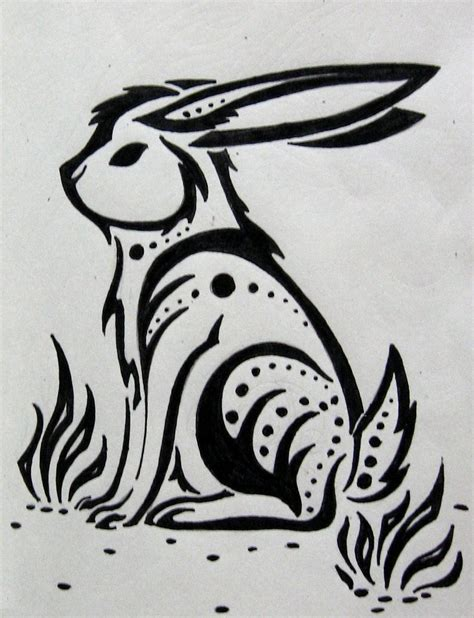 rabbit tribal tattoo tribal hare by silveraquila on deviantart