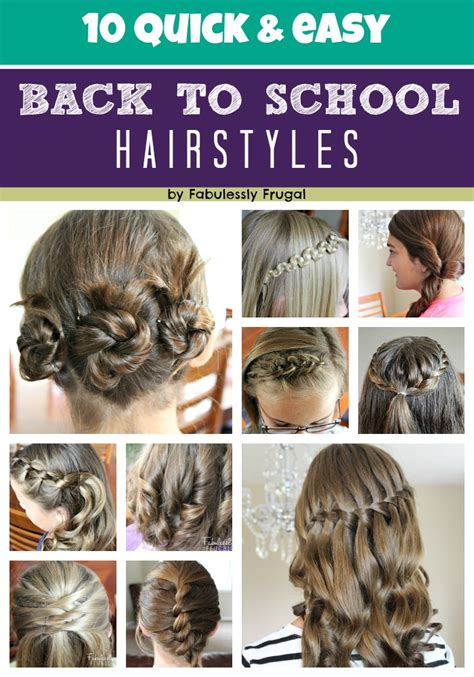 back to school hairstyles for hair 10 easy back to school hairstyle ideas fabulessly frugal
