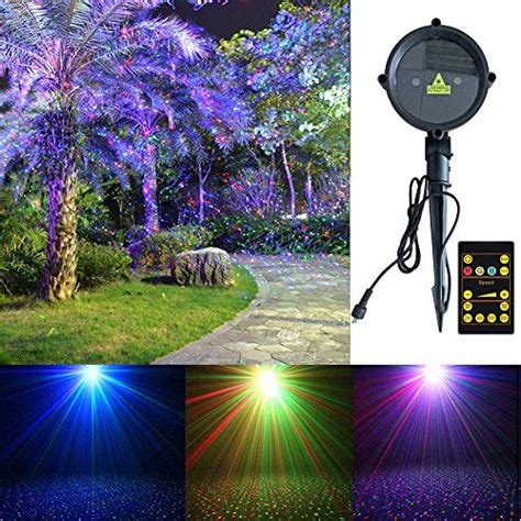 outdoor motion and light projector laser lights tepoinn outdoor projector waterproof rgb