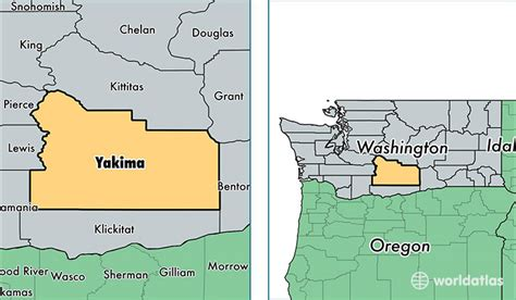 map usa yakima yakima county washington map of yakima county wa